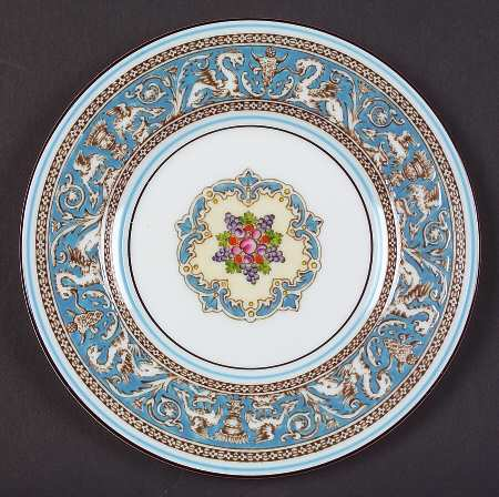 wedgwood_florentine_turquoise_fruit_center_white_bread_butter_plate_P0000113655S0149T2